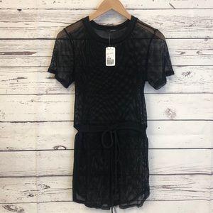 Forever 21 black mesh dress or swim coverup